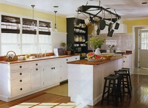 Large White Kitchen  white black kitchen via photopin (license)