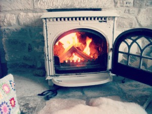 Cute Shabby Chic Wood Burner lighting the woodburner via photopin (license)