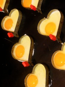 Fried Egg Moulds Heart-shaped eggs via photopin (license)