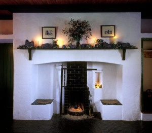 Farmhouse Fireplace with Original Seats Ireland-1 via photopin (license)