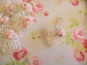 Wicker Hearts and Roses Romantic white wicker heart and pink rose by @RGrayscreations liked by wickerparadise, visit our wicker furniture selection. via photopin (license)