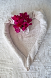 "Pretty heart Shaped Bed Decoration Photo by "" franky242"" FreeDigitalPhotos.net"