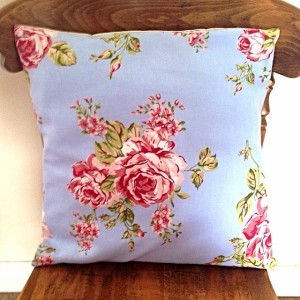 Handmade Cushion - Blue Floral http://www.heartsandhome.co.uk/handmade-cushion---blue-floral---shabby-chic-1101-p.asp