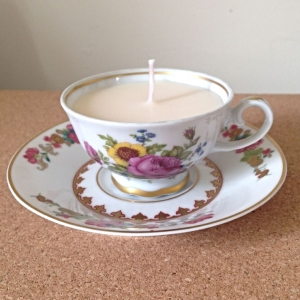 Handmade Miniature Teacup Candle - Vanilla Scented