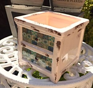 Ceramic Drawers Chest Pot