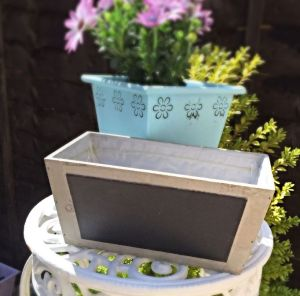 Rustic Plant Pot With Chalk Board